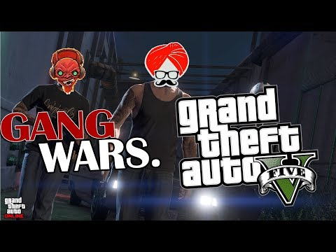 GANG WAR in GTA 5 RP - Funny Moments !!!!