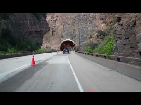 Westbound Interstate 70 Through Glenwood Canyon In Colorado
