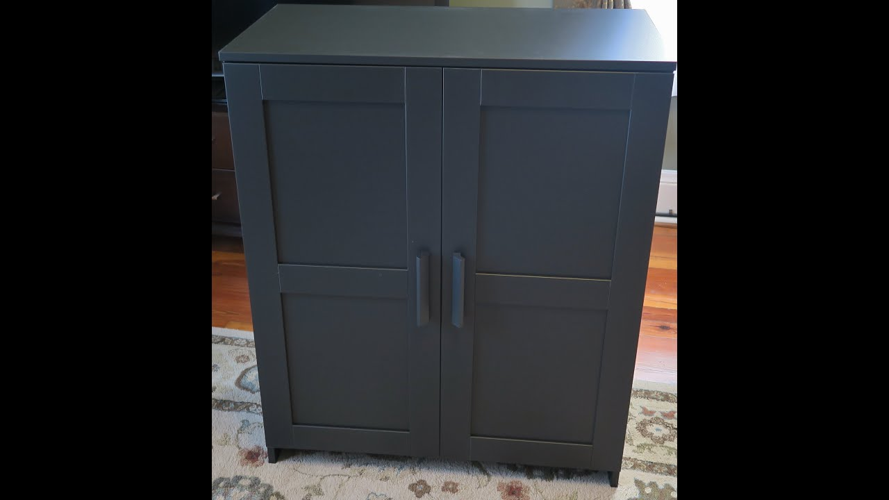 ikea brimnes cabinet with doors assembly youtube. Black Bedroom Furniture Sets. Home Design Ideas