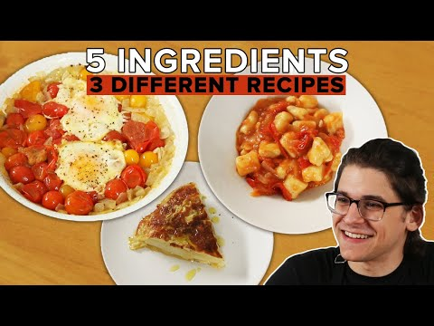 I Made 3 Meals With Only 5 Ingredients • Tasty