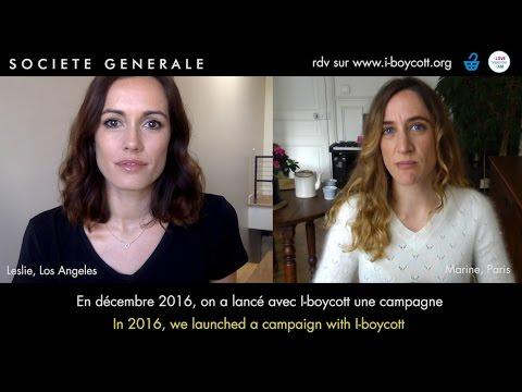 I-BOYCOTT Société Générale / Bank exit / Divest /  Video 2