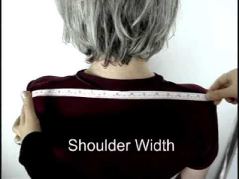 Male Shoulder width Measurement for Suits and Shirts - YouTube