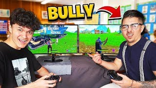 Download 16 Year Old Little Brother DESTROYS School Bully in Fortnite 1v1 Mp3 and Videos