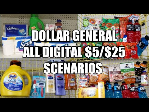 DOLLAR GENERAL $5/$25 ALL DIGITAL SCENARIOS
