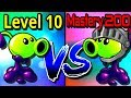 Plants vs Zombies 2 Compare Mastery 200 vs Level 20 Goo Peashooter PvZ 2 Gameplay