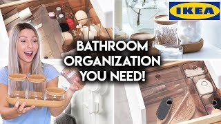 10 IKEA BATHROOM ORGANIZATION IDEAS