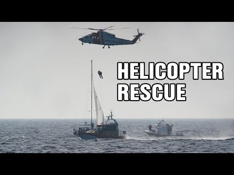 Helicopter Sikorsky S-76C Sailboat Rescue - The Swedish Coast Guard 13.05.2013