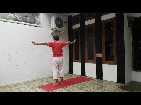 Sakit tulang belakang - SEMBUH!   Yoga with Penyogastar.