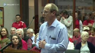 Residents speak against a Highway 380 bypass proposed alignment