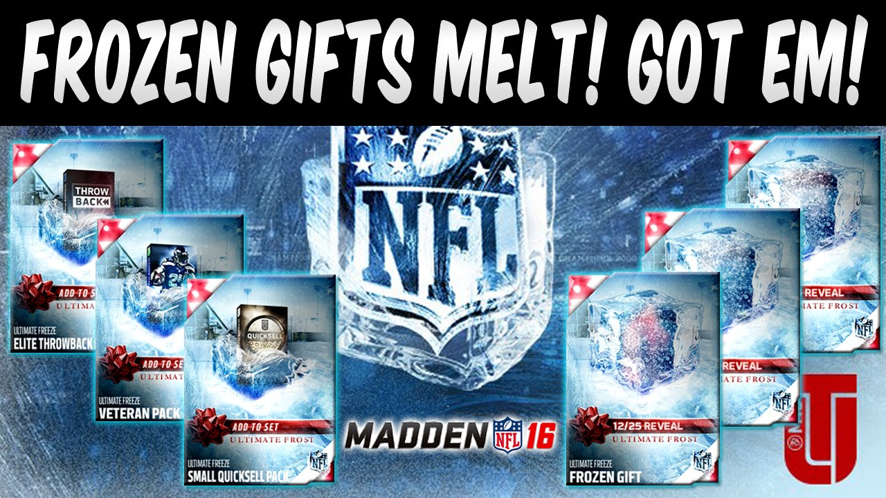 Madden Mobile Christmas Promo.Mut 16 Frozen Gifts Revealed We Have All Of Them Madden 16 Ultimate Team Ultimate Freeze Promo