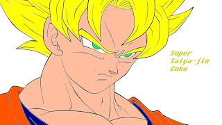 How To Draw Goku On Microsoft Paint With Mouse (EASY)