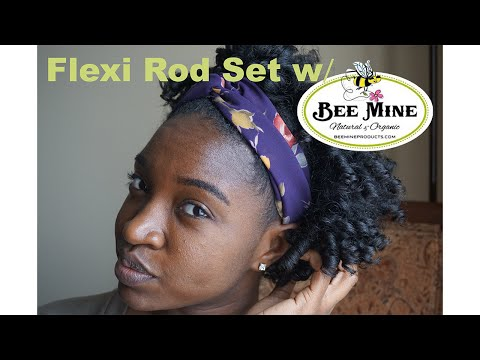Flexi Rod Set W/ Bee Mine | Type 4 Natural Hair