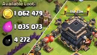 Clash of Clans: MAX TH9 Base!!  + 2 MILLION LOOT RAID & 4000 Trophies!