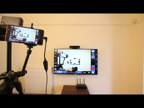 Wireless send Dslr camera live view to Monitor/Television