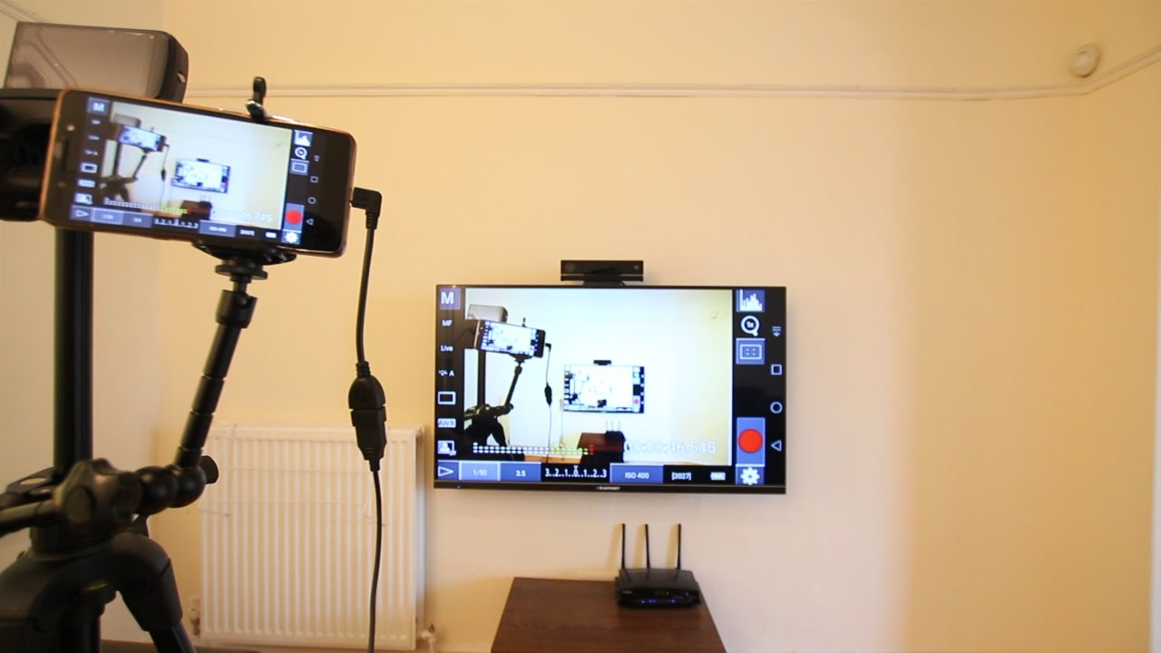 Wireless send dslr camera live view to monitor television for Camera it web tv