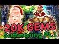 [Dragon Project] 20K GEMS Christmas Summoning Part 1!