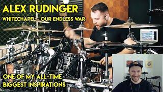 Drum Teacher reacts to Alex Rüdinger (Whitechapel - Our Endless War)