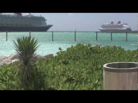Disney Fantasy & Disney Dream Dueling Horn Show at Castaway Cay in HD