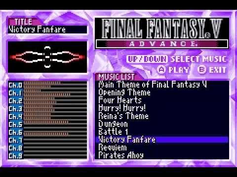 Final Fantasy V Advance Sound Restoration Hack: Victory Fanfare (Outdated)