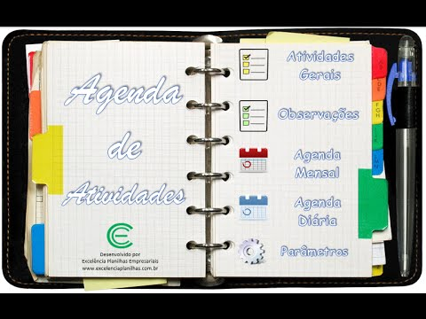 planilha de agenda de atividades youtube. Black Bedroom Furniture Sets. Home Design Ideas