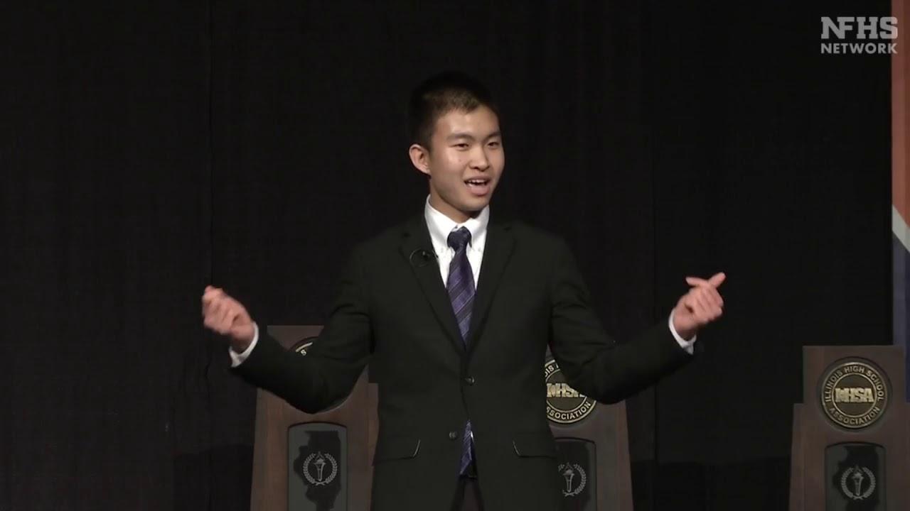 IHSA 2020 Extemporaneous Speaking State Champion - Brian Zheng - YouTube