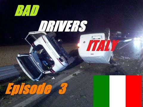 BAD DRIVERS ON ITALY STREETS + Car Crash // DashCam Episode 3