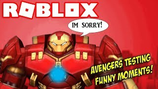 FIGHTING THE HULK?! Roblox Avengers Testing Funny Moments!
