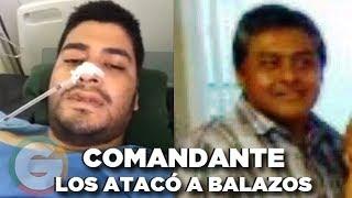 Comandante ataca a balazos a dos civiles denuncian víctimas #Veracruz