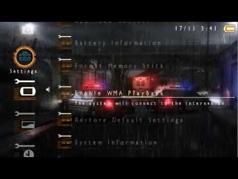 Heavy Rain Dynamic Theme CTF 500M33 (PSP) | FunnyCat TV
