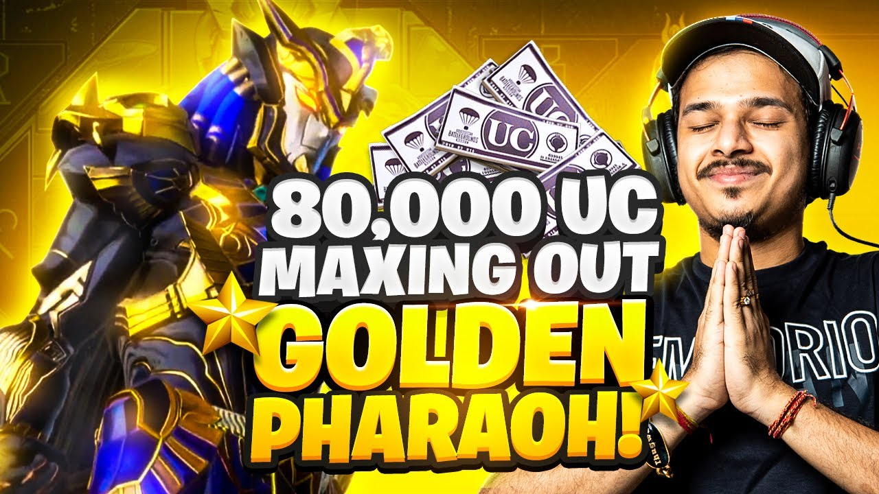 FIRST EVER MAXING OUT PHARAOH SKIN    Rs.80,000 UC    LUCKIEST EVER YOUTUBER    PUBG MOBILE   