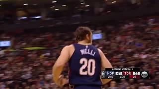 Nicolo Melli Full Play 10/22/19 New Orleans Pelicans vs Toronto Raptors   Smart Highlights