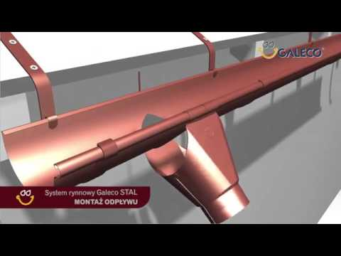 Інструкція по монтажу металевої водостічної системи Galeco