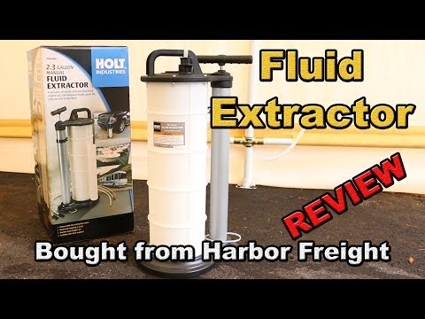Holt Manual Fluid Extractor from Harbor Freight