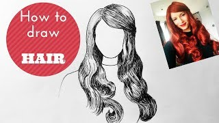 How To Draw Hair - Step By Step Tutorial