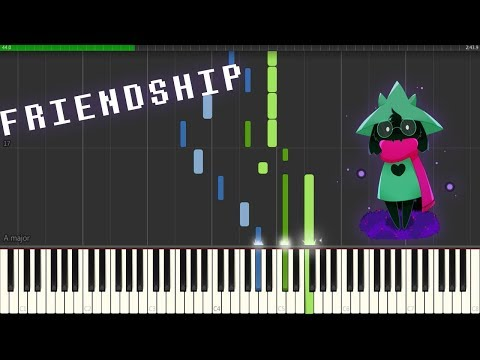Delta Rune OST - Friendship [Piano Synthesia + Sheets]