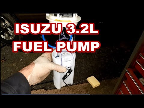 FUEL PUMP REPLACEMENT ISUZU RODEO How to replace fuel module sending unit 2000 2001 2002 2003 change