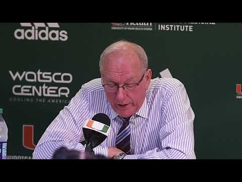 Jim Boeheim postgame news conference after Syracuse basketball at Miami (2018)