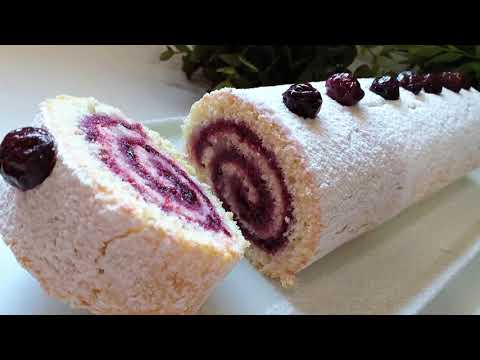 الكيك-الملفوف-بطريقة-جد-سهلة-(gâteau-roulé-de-manière-très-simple-(chehiwat-zakia