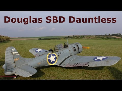 Douglas SBD Dauntless, giant scale RC airplane, 2016