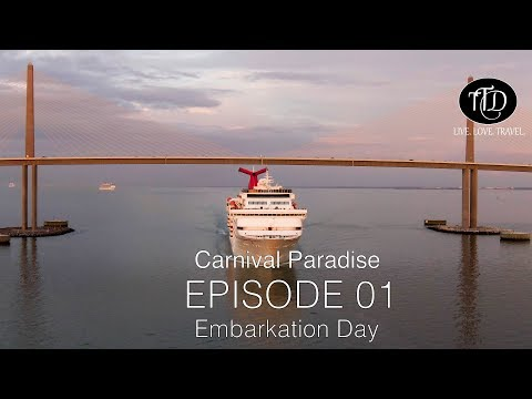Carnival Paradise Cruise | Embarkation Day Port Tampa | Episode 01