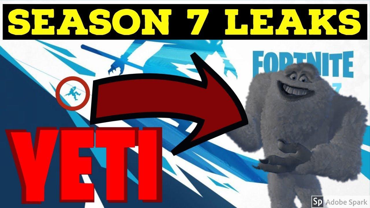 Season 7 Leaked Yeti In Fortnite Myths 3 Youtube