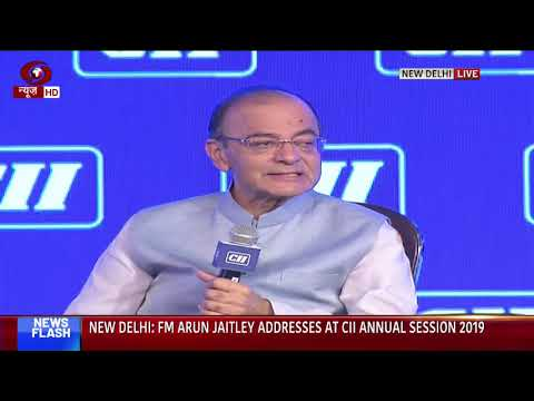 Finance Minister Arun Jaitley  addresses annual conference of CII