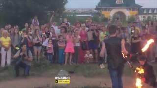 Люди загорелись во время фаер шоу