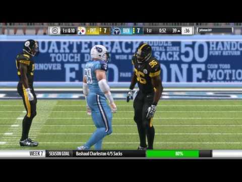 Madden 17 franchise|Steelers vs Titans week 7 S4