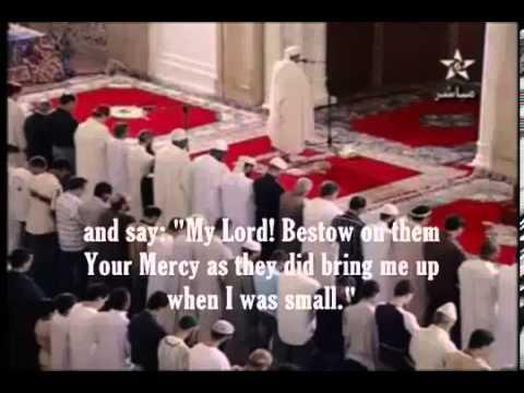 Imam menangis apabila baca ayat al-Quran tentang hormati ibu bapa.avi