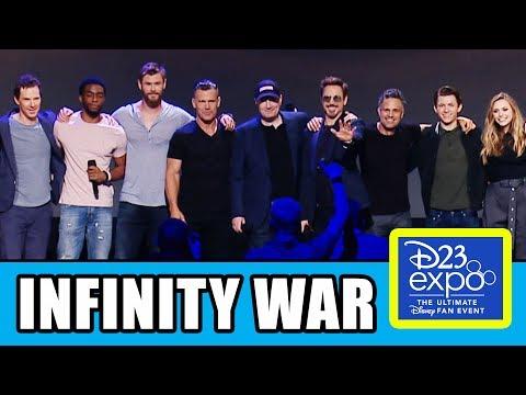 AVENGERS INFINITY WAR Cast Assemble At D23 Expo
