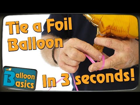 How To Speed Tie a Foil Balloon with Chris Horne - Balloon Basics 21
