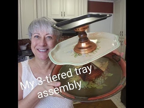 3-tiered tray assembly