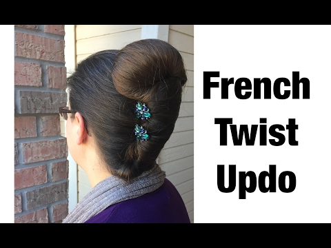 French Twist Updo using Lilla Rose Accessories  Long Hair Style