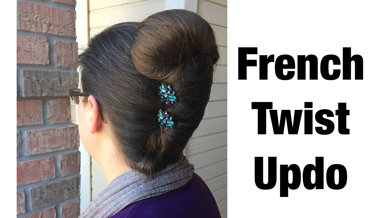 French Twist Updo Using Lilla Rose Accessories Long Hair
